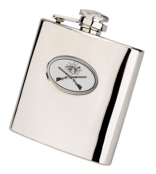 Bisley 6oz Crossed Guns Hip Flask