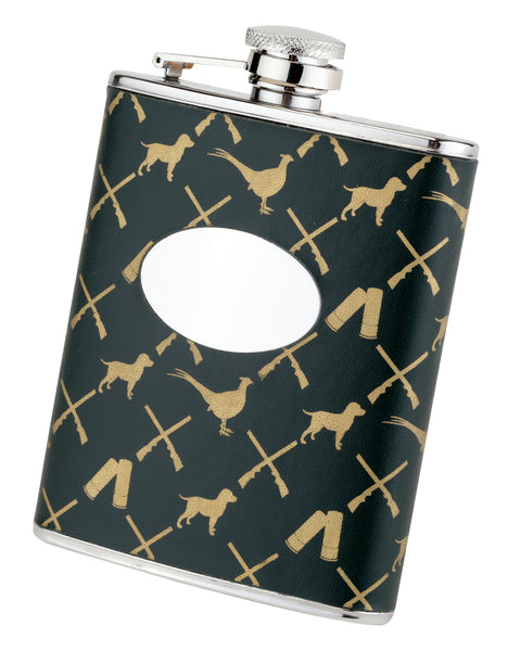 Bisley 6oz Game Pattern Hip Flask