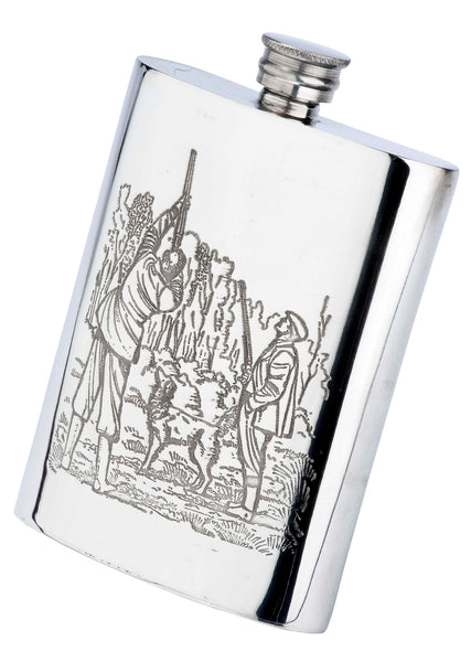 Pewter 6oz Game Season Hip Flask