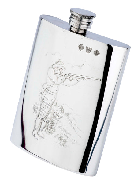Pewter 6oz Shooter Hip Flask