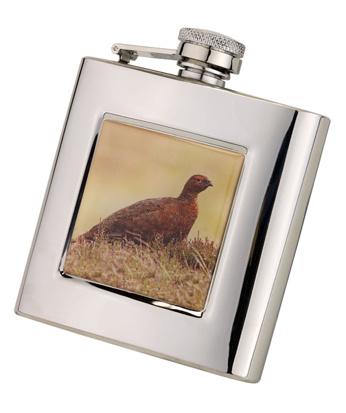 Bisley 6oz Square Grouse Hip Flask