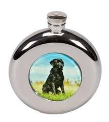 Bisley 5oz Round Black Ladrador Hip Flask