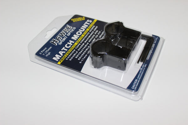 "Hawke 9-11mm/ 1""/ High Ring Mounts"