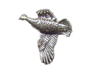 Pewter Grouse Pin Badge
