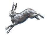 Pewter Hare Pin Badge
