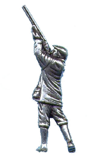 Pewter Shooter Pin Badge