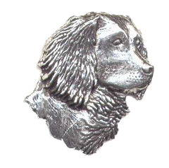 Pewter Spaniel Pin Badge