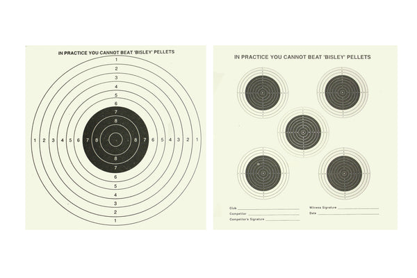 Bisley Double Sided 5+1 Targets (4 packs)
