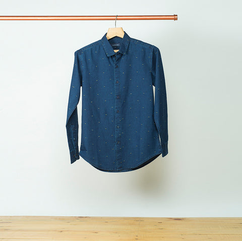 COLOUR BLOCK DENIM SHIRT