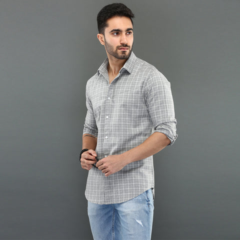 Black Striped Shirt with Diagonal Seam Detail