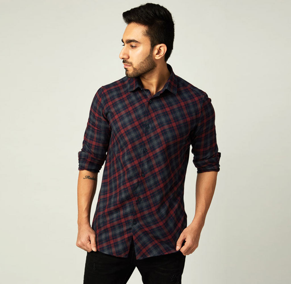 Bias Checked Shirt