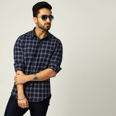 Olive Checked Shirt