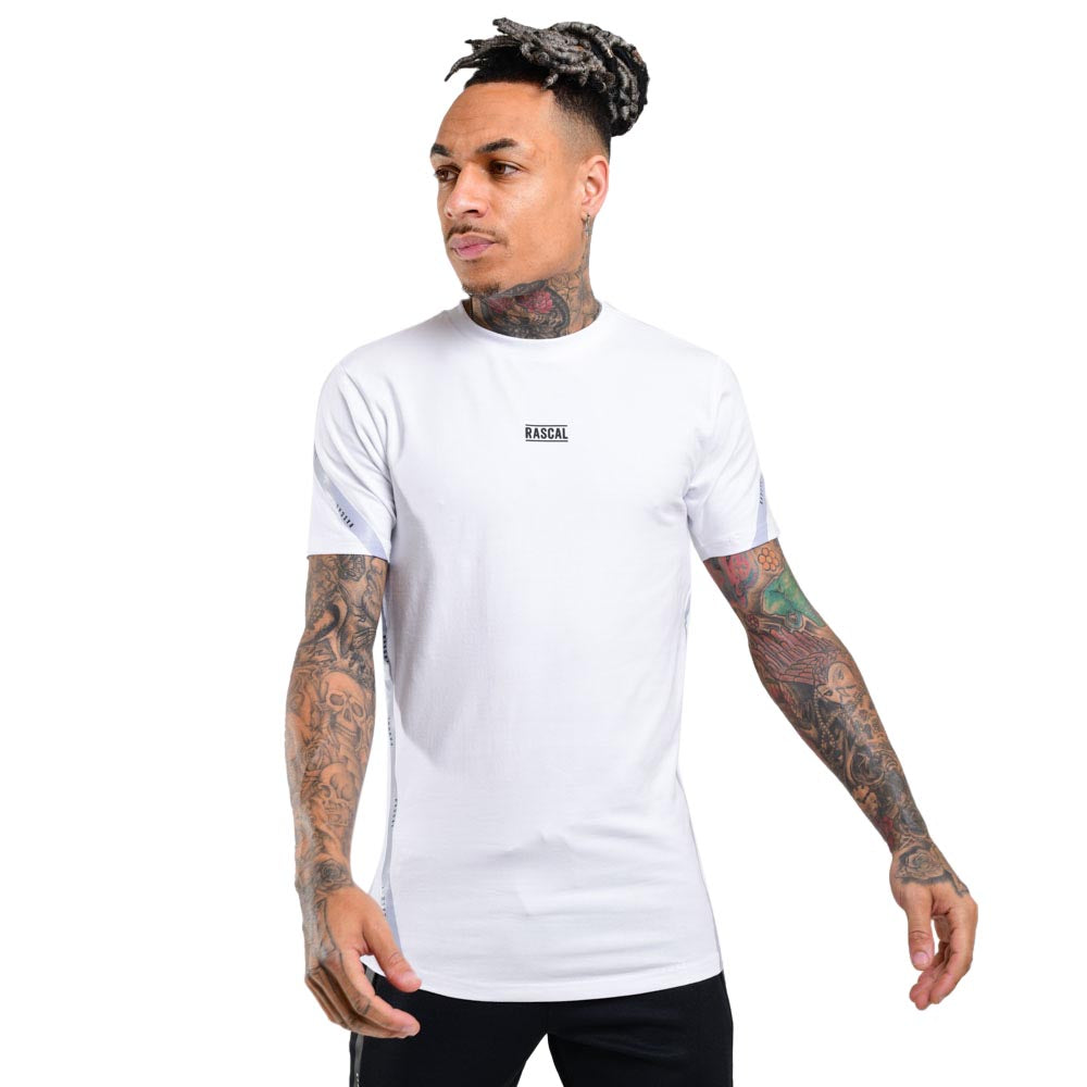Mens Flection Tape Tee  | White