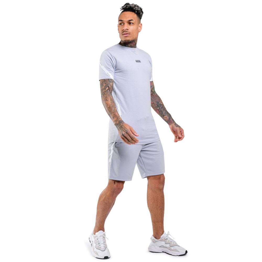 Mens Flection Tape Tee  | Light Grey