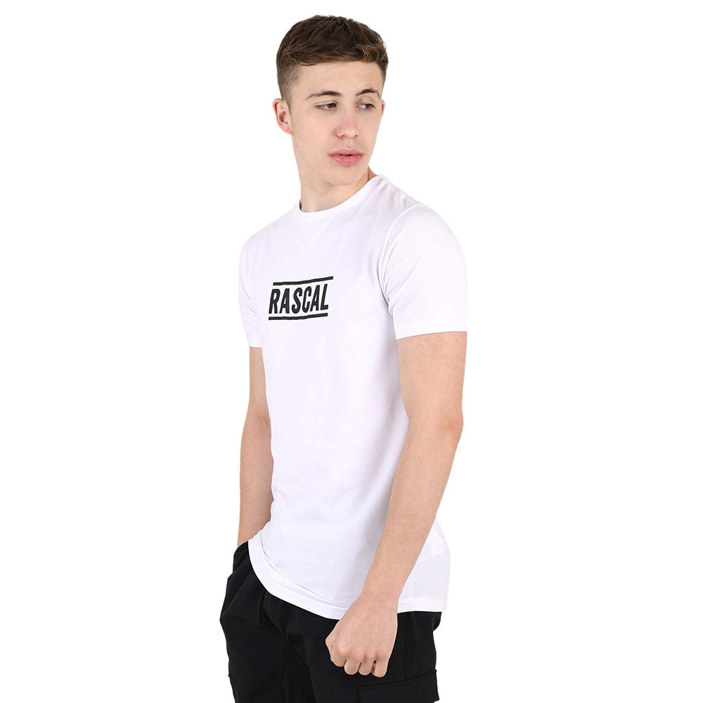 Mens Essential Large Logo Tee | White