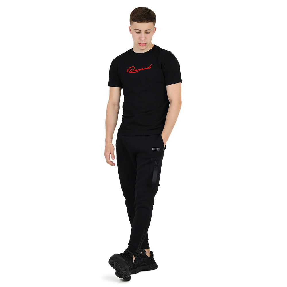 Boys Signature Tee  | Black Red