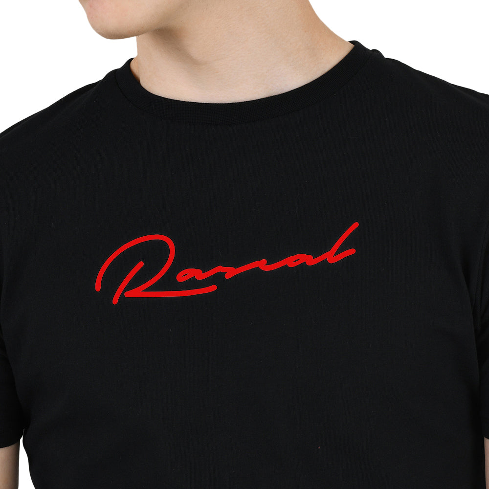 Boys Signature Tee  | Black/Red