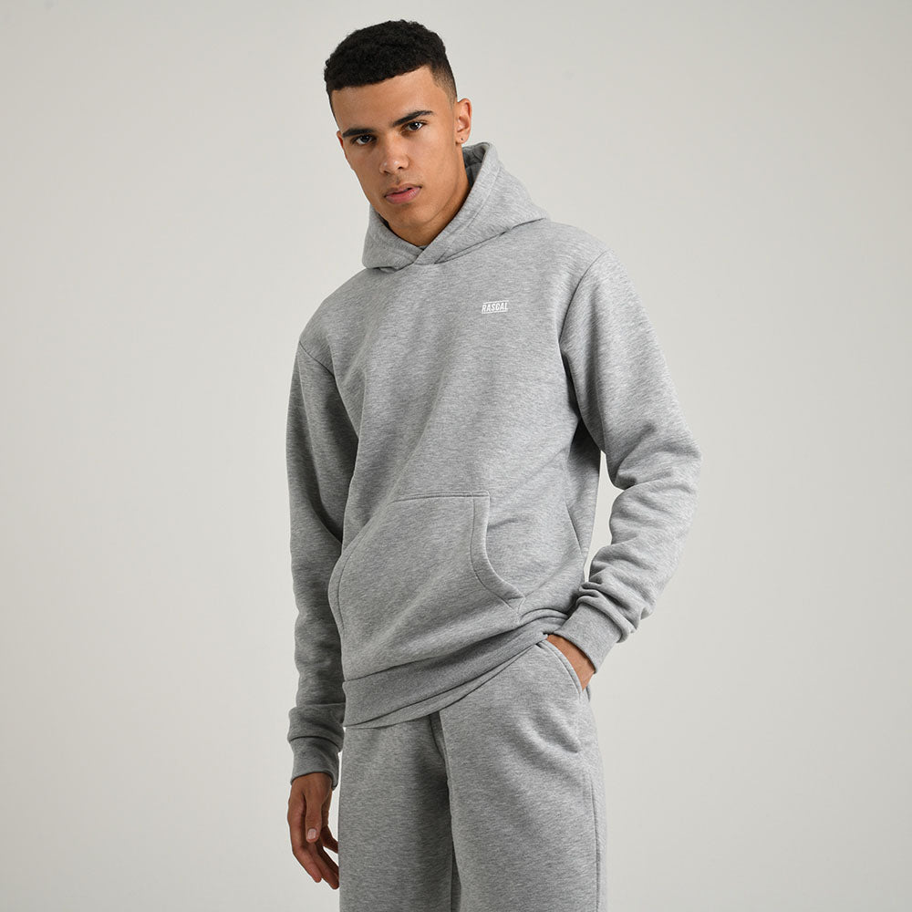 Mens Essential Hood | Grey Marl
