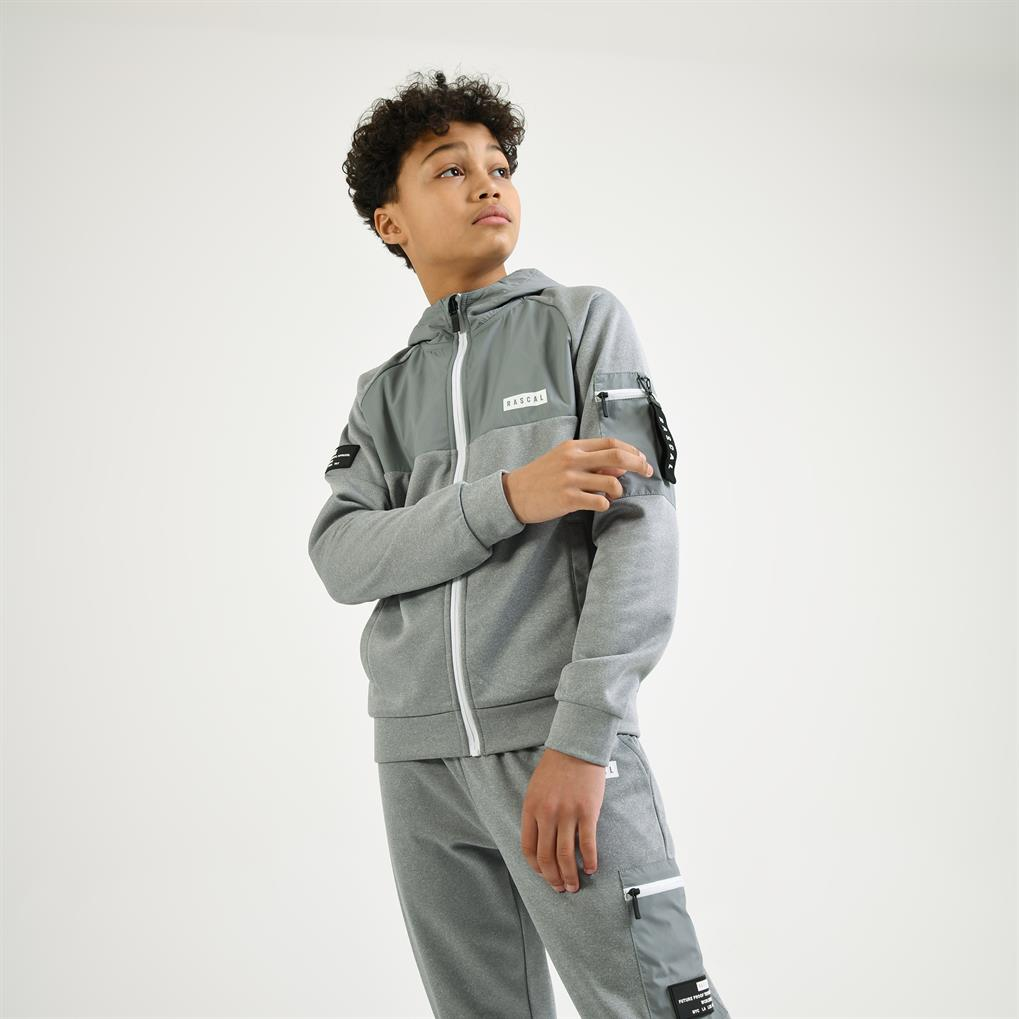 Boys Tech Utility Track Top  | Light Grey