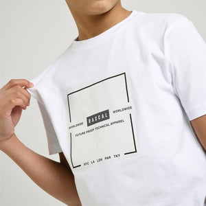 Boys Tech Utility Tee  | White