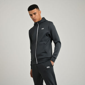 Mens Essential Poly FZ Hood | Charcoal