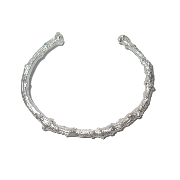 Sterling Silver Twig Cuff Bangle Small-Medium