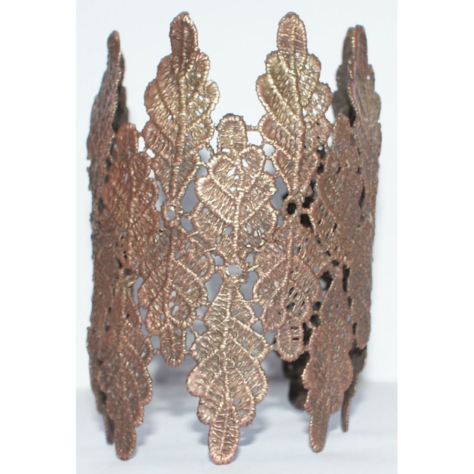 Bronze Metal Lace Cuff Bangle Bangle, Bronze, Cuff, Lace