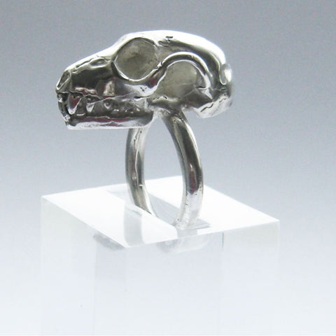 Sterling Silver Fruit Bat Skull Ring Bat, Immortal, Ring, Sterling Silver