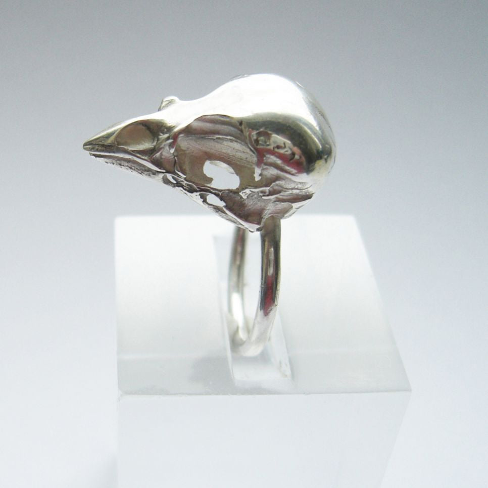Sterling Silver Sparrow Skull Ring Bird, Immortal, Ring, Skull, Sterling Silver