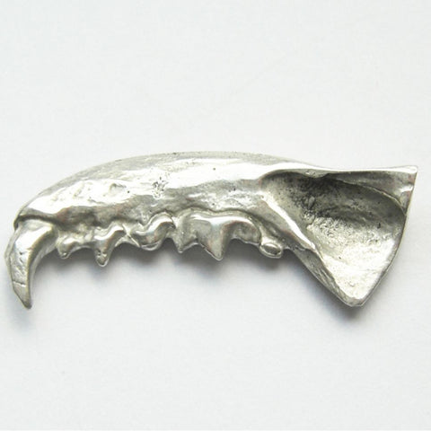 Sterling Silver Mink Jaw Brooch Upper Left Brooch, Brooches, Immortal, Jaw, Mink, Sterling Silver