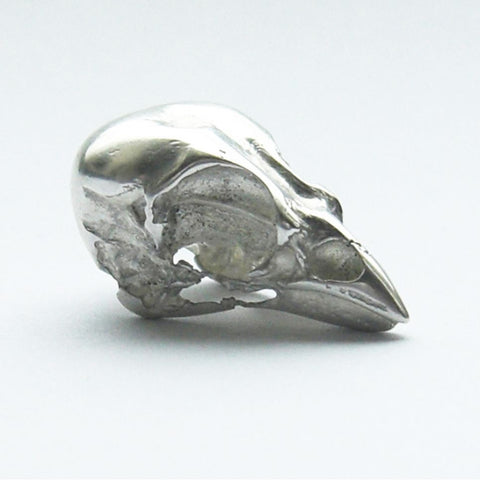 Sterling Silver Sparrow Skull Brooch Bird, Brooch, Brooches, Immortal, Skull, Sterling Silver