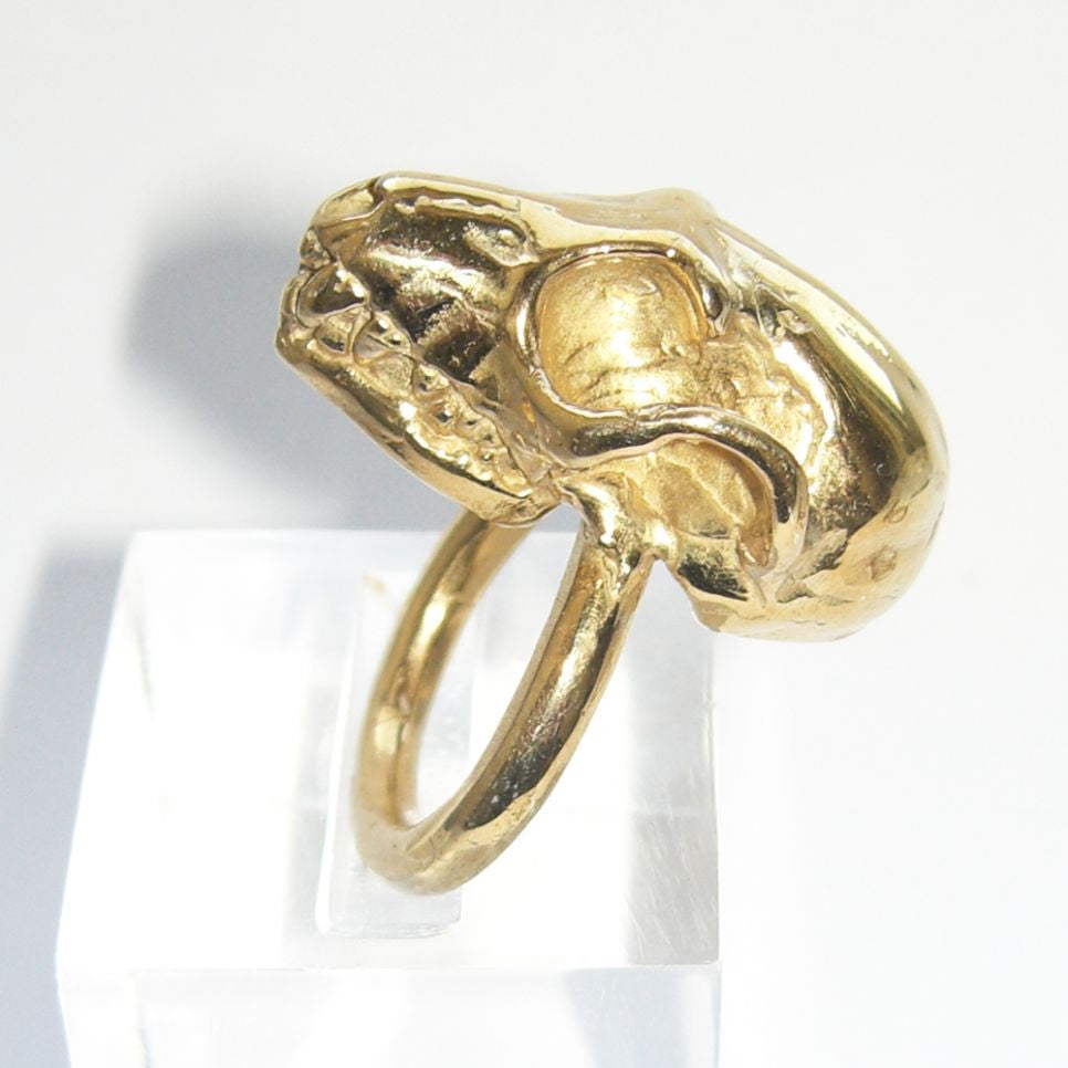 Gold Vermeil Fruit Bat Skull Ring Bat, Gold Vermeil, Immortal, Ring, Rings, Skull
