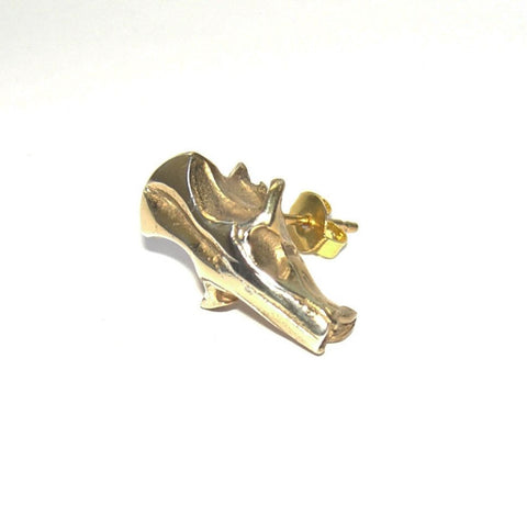 Gold Vermeil Mouse Skull Stud Earrings Earring, Earrings, Gold Vermeil, Immortal, Mouse, Skull