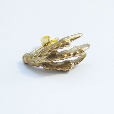 Gold Vermeil Bird Claw Stud Earrings Bird, Claw, Earring, Earrings, Gold Vermeil, Immortal