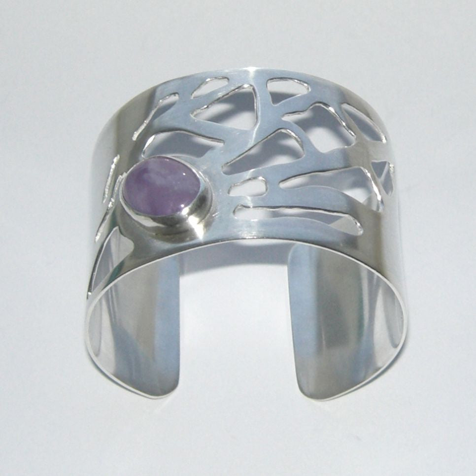 Sterling Silver Cuff Bangle Ramalina Un Seul Amethyst Bangle, Cuff, Ramalina, Sterling Silver