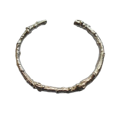 Sterling Silver Twig Cuff Bangle Medium Large Bangle, Cuff, Sterling Silver, Twig