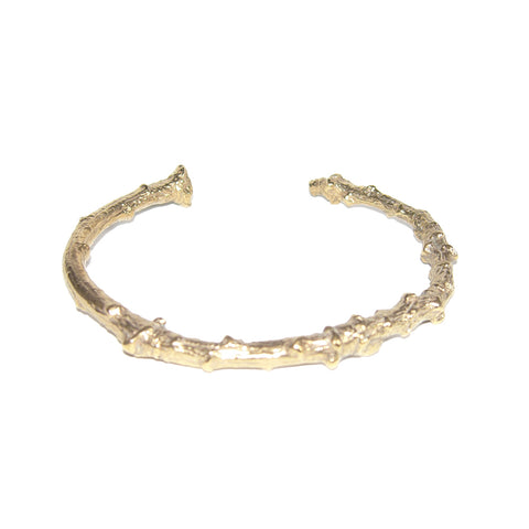 Gold Vermeil Twig Cuff Bangle