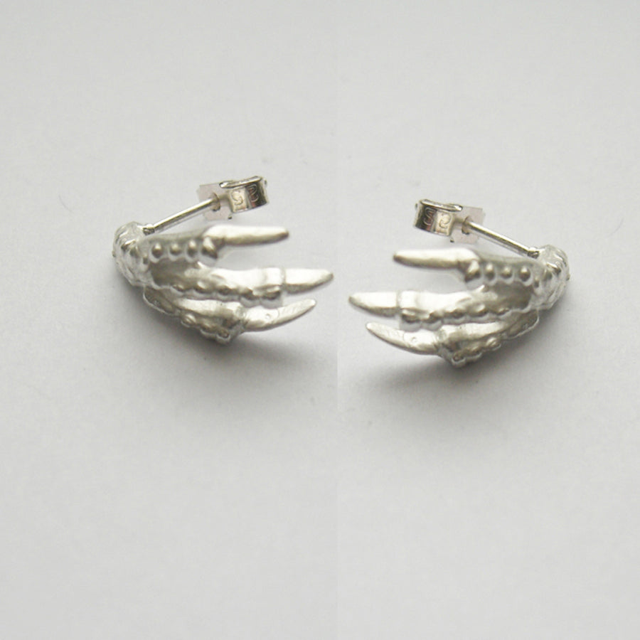 Sterling Silver Bird Claw Stud Earrings