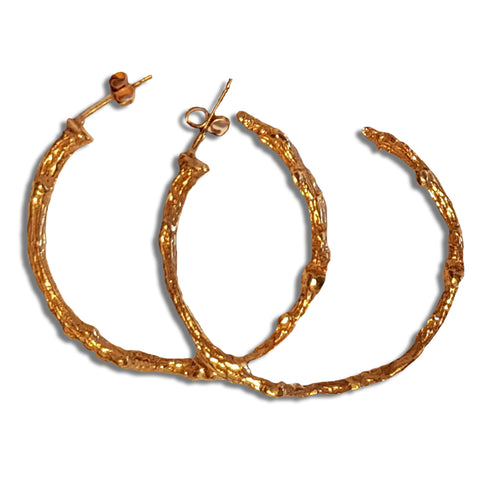 Gold Vermeil Twig Earrings