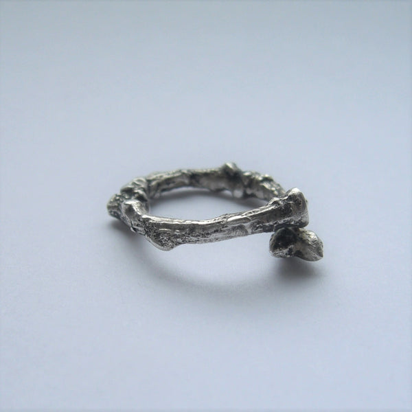 Sterling Silver Twig Ring Band