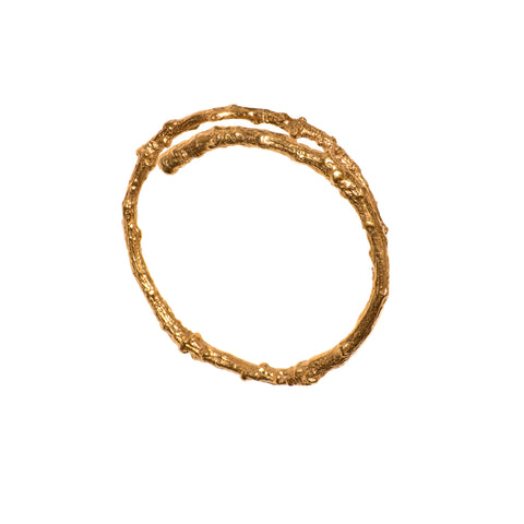 Gold Vermeil Twig Bangle