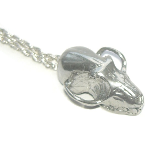 Sterling Silver Fruit Bat Skull Pendant
