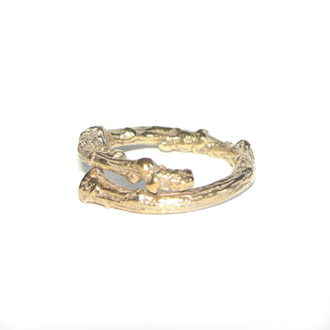 Gold Vermeil Twig Ring Band