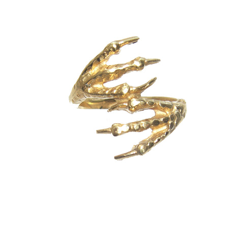Gold Vermeil Bird Claw Ring