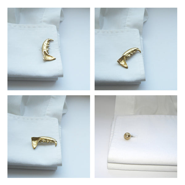 Sterling Silver Mink Jaw CuffLinks