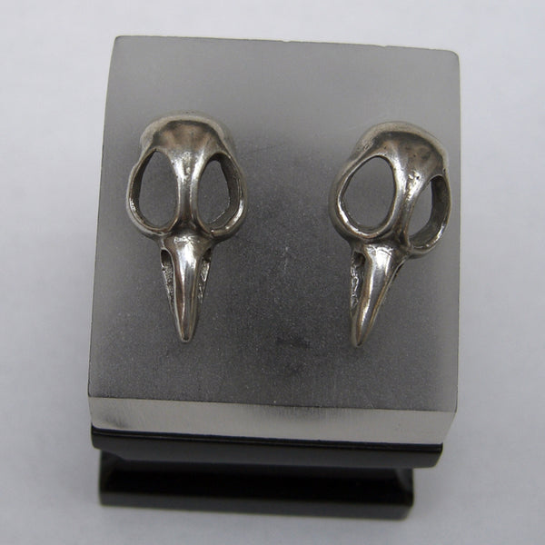 Sterling Silver Bird Skull Stud Earring - Single