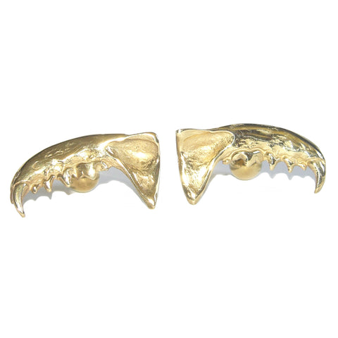 Gold Vermeil Mink Jaw Cufflinks