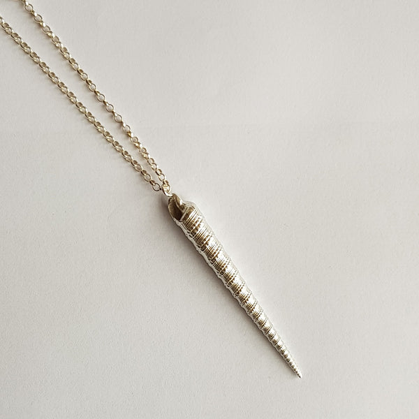 Sterling Silver Unicorn Horn  Pendant, Necklace