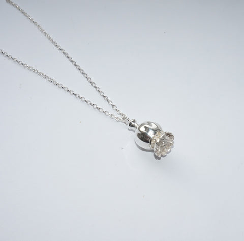 Sterling Silver Poppy Pod Pendant, Necklace