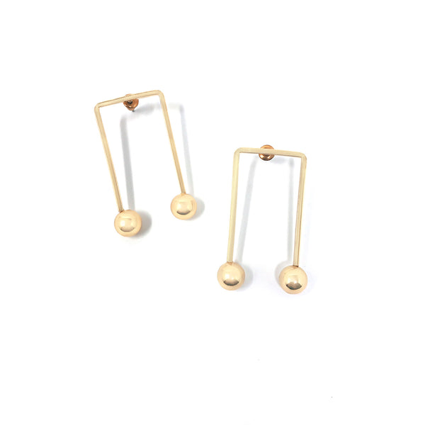 Barbell Earrings - Taramay Design
